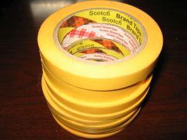 **3M244高温喷漆遮蔽胶带,电路板焊接美纹纸胶带,可分切任意宽度。分色胶带,