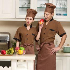 2016厨师工作服短袖厨师服夏装新款酒店厨师长工装批发定做