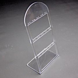 透明有机玻璃耳钉架3排热弯亚克力珠宝银饰品耳环展示陈列架多款