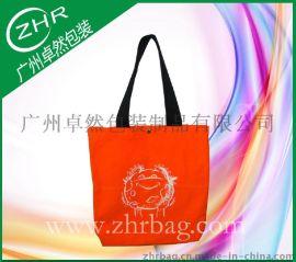 厂家定做手提织带全棉橙色帆布袋 企业宣传帆布广告袋