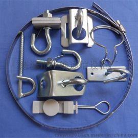 慈溪华维长期供应光纤布线耗材夹板拉钩 抱箍钢带 紧箍拉钩 S型固定件