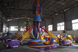 自控旋转飞机游乐设备 儿童液压升降旋转小飞机