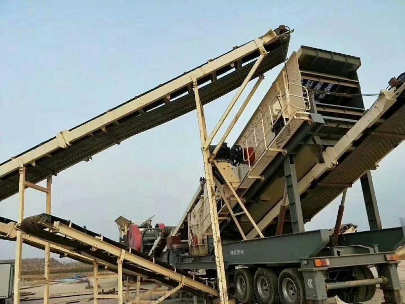 砂石线整套移动破碎机 建筑垃圾破碎机 移动破碎站