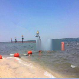 君益出品海上拦污漂,拦渣塑料浮筒,施工图片