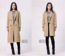 意大利**品牌哥邦冬装双面呢大衣羽绒服尾货批发