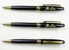 忆涵黑色金属旋转圆珠笔定制商务签字笔宝珠笔印字两种笔芯可选择