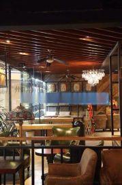 餐厅铝方通吊顶-餐馆铝方通吊顶厂家