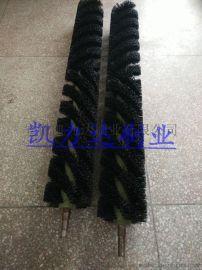 凯力达刷业按需定做纺织印染设备毛刷辊皮革机械毛刷辊螺旋毛刷辊