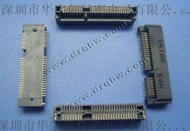 无线网卡接口MINI PCI-E 52P贴片高度4.0/5.2/5.6/7.0/9.0/10.5HYC01-PCI52-52