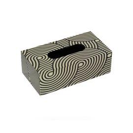 黑白色纹理纹路钢琴烤漆木质纸巾盒欧式创意客厅卧室酒店板房摆件