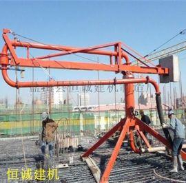 12米手动混凝土布料机圆筒布料杆厂家布料车