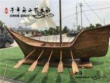 常州景觀海盜船模型 歐式帆船雕塑 美式中世紀工藝木船