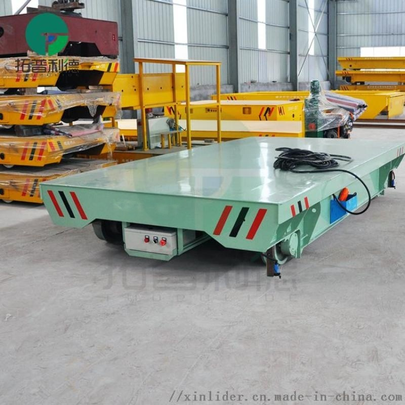 搬運鋁卷25噸直流電動平車 軌道定位拖車環保易維護