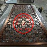 厂家来图定制超大超长拉丝镜面钛金屏风不锈钢