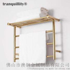 304钛金色电热毛巾架 真空电镀毛巾架 电热浴巾架