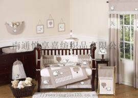 婴儿床上用品被子床帏床笠床裙套件6件套
