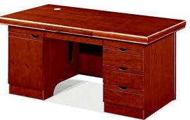油漆木皮办公桌1401款 健康环保油漆 实木木皮