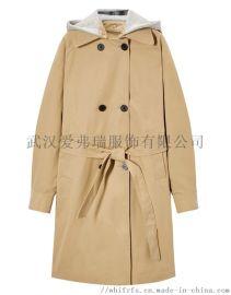 品牌服装进货利润是多少VESA韩版女士立领风衣