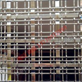 酒店餐厅金属装饰网 隔断金属网帘 幕墙装饰钢丝网