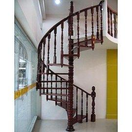 360度实木旋转楼梯