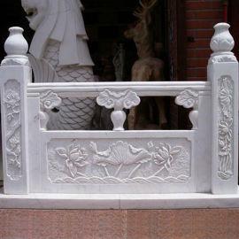 专业雕刻制作汉白玉石栏杆-汉白玉栏杆厂家