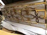 不锈钢拉丝点焊镀钛屏风 简易金属隔断厂家