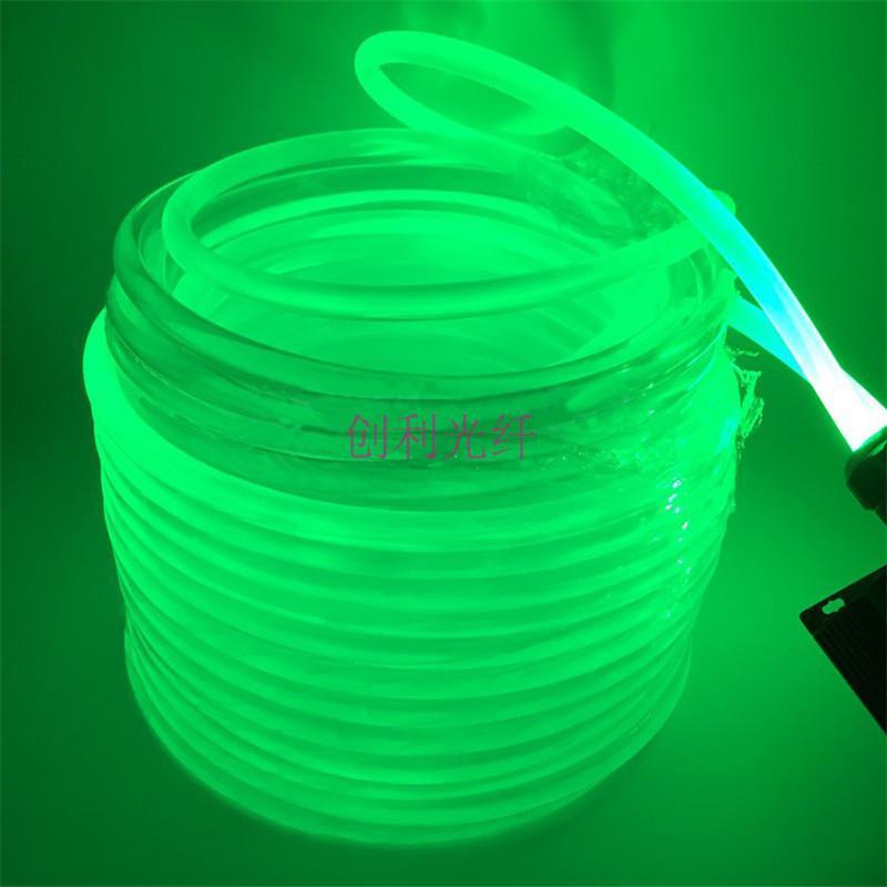超亮φ12mm实芯通体侧面塑料光纤导光光纤泳池轮廓氛围导光光纤线