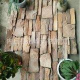 厂家供应 碎拼石材黄锈板网贴 暖色系碎拼文化石 颜色鲜艳