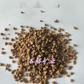 厂家供应黄金软麦饭石1-3mm 园艺铺面黄金麦饭石