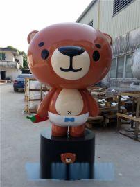 广场开业摆件立体泰迪熊模型玻璃钢雕塑定制