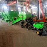 移動式玉米秸稈青儲打包機 自動進料牧草青儲打包機
