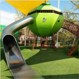 景区小区儿童不锈钢滑梯幼儿园游乐玩具户外亲子乐园