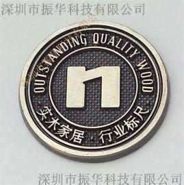 厂家加工订做锌合金扫古铜精美贴胶铭牌