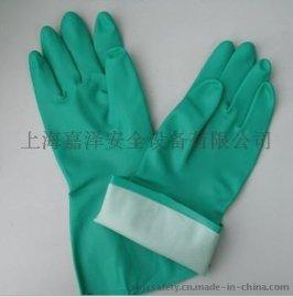 耐油防化手套、石油手套、油井手套、绒里家用手套、绿色丁腈手套