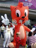 【廣州全優能】藍貓造型充氣形象卡通|廣州訂做戶外活動廣告氣模行走人|充氣卡通,廣告帳篷,固定氣模,充氣拱門,行走人偶,形象設計,歡迎訂購