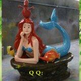 供应优质玻璃钢雕塑卡通人物美人鱼雕塑