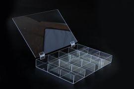 **透明亚克力6格12格16格18格盘首饰佛珠展示盒