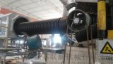 江苏联顺机械HDPE双壁波纹管设备节能改造项目,单螺杆挤出机改锥形双螺杆挤出机SJSZ,波纹管配方改进降低成本,波纹管成本控制