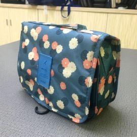 源头工厂定制防水旅行洗漱包化妆包多功能手提收纳包可悬挂洗漱包