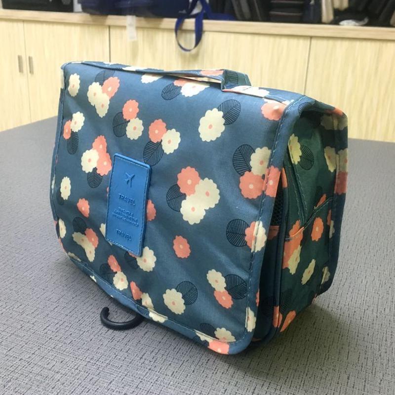 源頭工廠定製防水旅行洗漱包化妝包多功能手提收納包可懸掛洗漱包