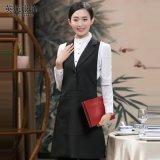 西裝領新款全包圍裙男女士成人韓版時尚餐廳咖吧美甲師工作服印製