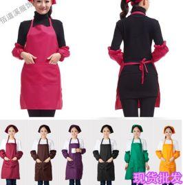 围裙韩版时尚厨房烘焙美甲奶茶店做饭工作服女男围腰定制企业LOGO