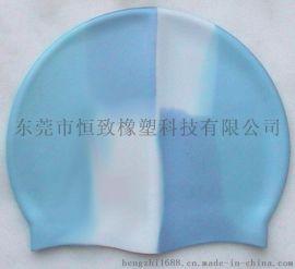 供应高拉力硅胶游泳防水平帽  可定制logo游泳帽