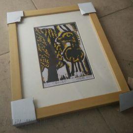 厂家直销 定制原木色相框 摆/挂两用实木相框 木质相框