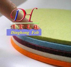 3mm厚彩色羊毛毡染色毛毡3毫米包材鞋材帽材毛毡