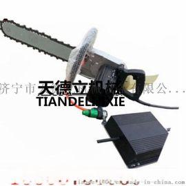 220V单相电开门用切墙电动金刚石链锯 35公分石材切割链锯
