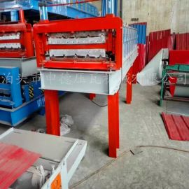 泊头申德压瓦机械厂专业定做 840-900双层门市彩钢瓦压瓦机加高门市彩钢压瓦机