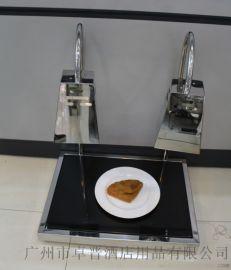 不锈钢方头双头食物保温切割台双头保温灯食物加热灯酒店自助餐