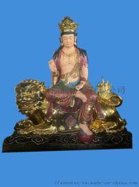 厂家供应佛像 贴金彩绘神像 玻璃钢铜雕菩萨