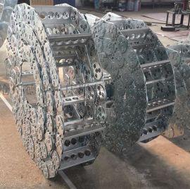 钢厂轧钢厂专用钢制拖链 钢铝拖链